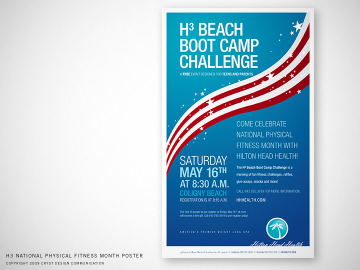 Hilton Head Health National Physical Fitness Month Poster