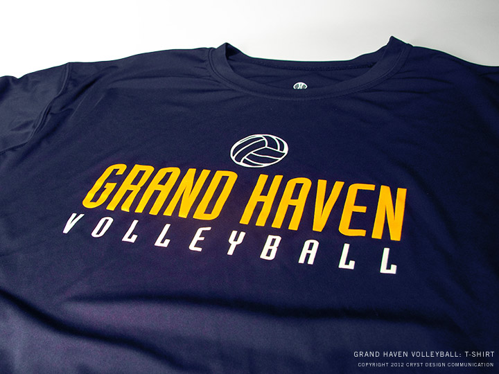Grand Haven Volleyball : Blue T-Shirt