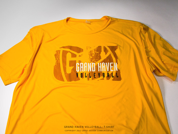 Grand Haven Volleyball : Yellow T-Shirt