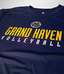 Grand Haven Volleyball : Blue T-Shirts